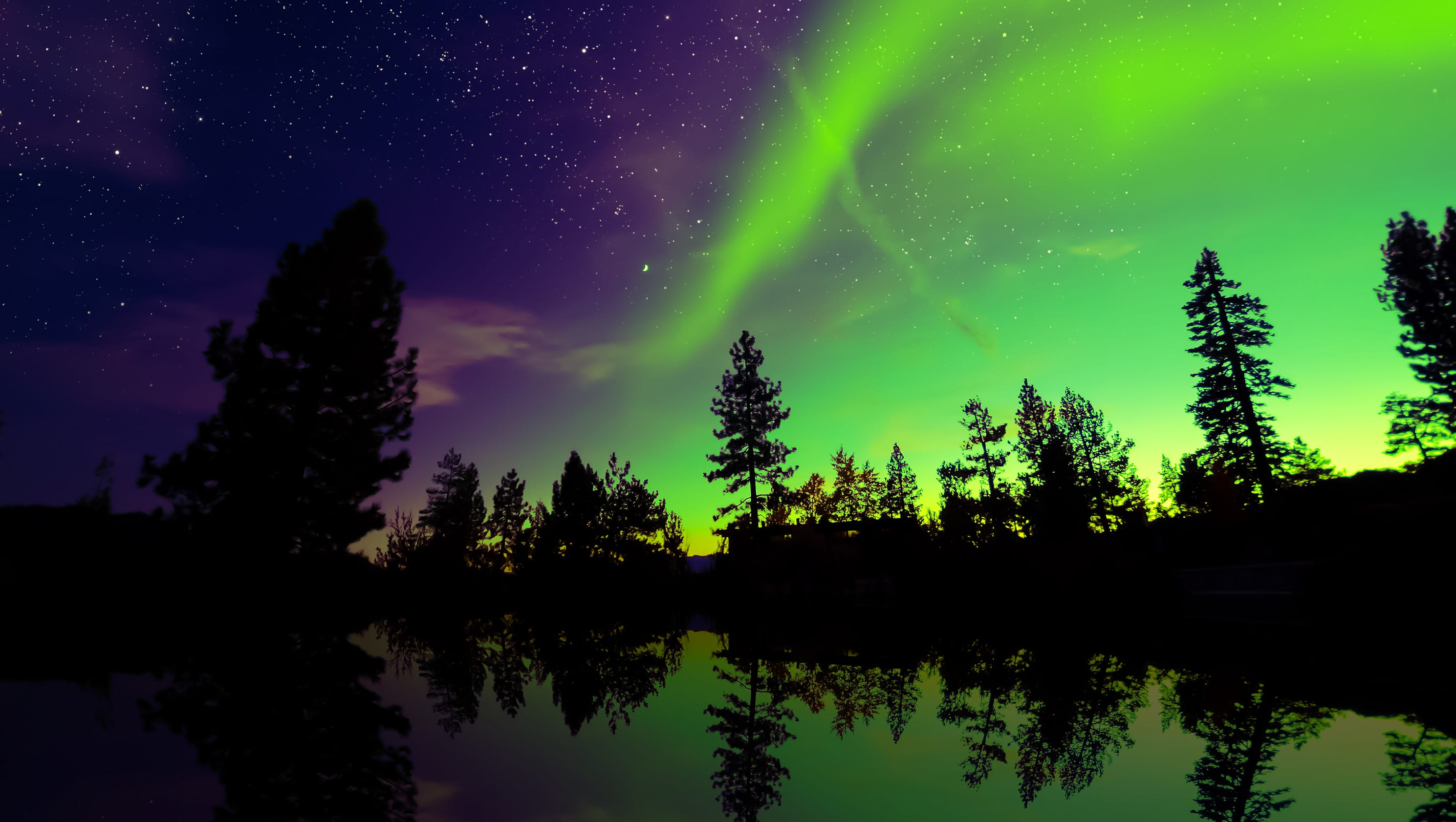how to create northern lights