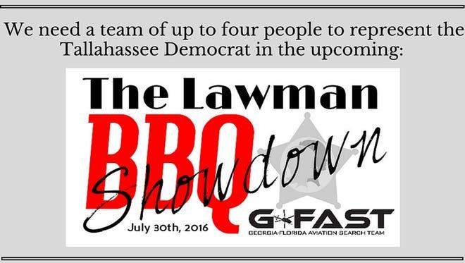Represent Team Democrat at the Lawman BBQ Showdown in Monticello on July 30.