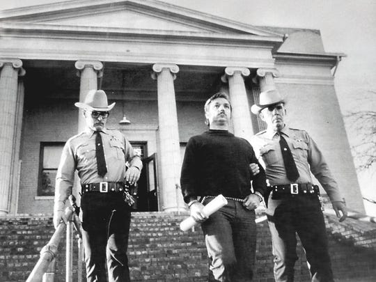 Gerald Gallego is escorted out of a courthouse during one of his trials in January 1984. Gallego and his common-law wife, Charlene Williams, preyed on young girls in three states, kidnapping, raping and killing as many as 10 people. In Nevada, he was tried for the murder of Stacy Redican and Karen Chipman, who were abducted in Citrus Heights in April 1980 and murdered near Lovelock. Gallego was found guilty and sentenced to death.
