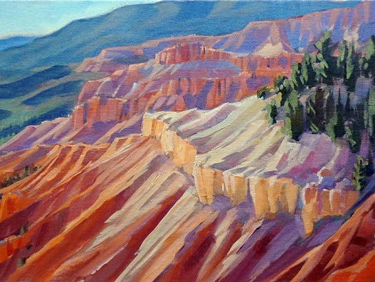 Valerie Orlemann is a Utah landscape painter using