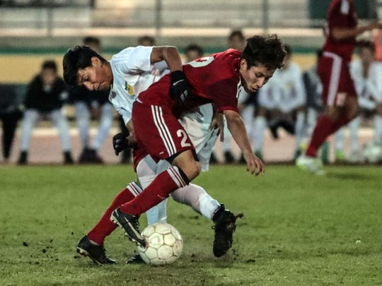 Desert Mirage and Coachella Valley soccer Wednesday, January 24, 2018 in Thermal.