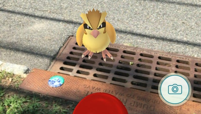 Screenshot of a Pokemon Go game in Parsippany. Residents are cautioned to be aware of surroundings when playing the game.