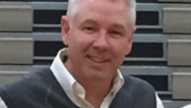 New Castle girls' basketball coach Bobby Meier
