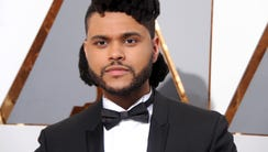 Singer The Weeknd arrives at the 88th Annual Academy