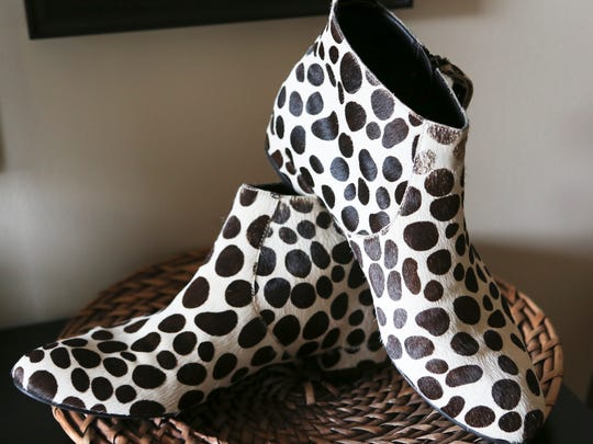 Favorite things from Stylemaker Maggie Lanham.  Dalmatian print pony hair ankle boots from Joe Fresh.
