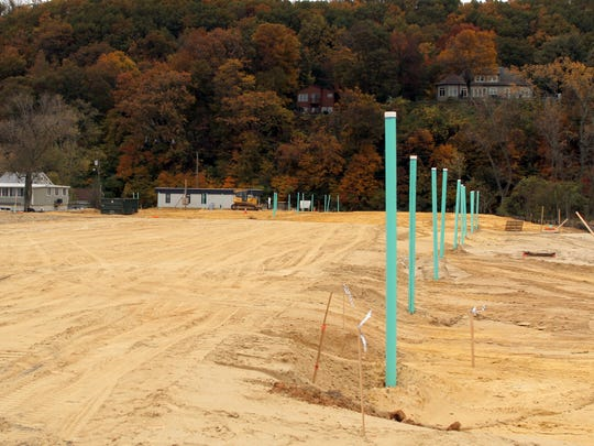The former site of the Paradise Park trailer park in Highlands is now the Harborside at Hudson's Ferry townhome construction site shown Tuesday, October 27, 2015.