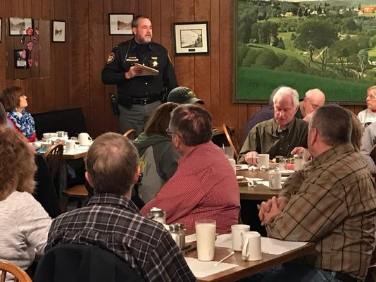 Sheriff Rogers at Farmers Breakfast