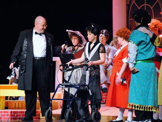 People with special needs learn techniques in improvisation, movement and music during Exceptional Theater Company classes.