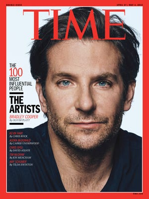 Bradley Cooper featured on a  2015 'Time' magazine issue honoring the Time 100.