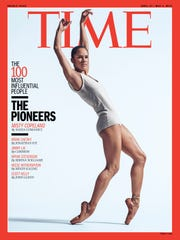 Misty Copeland featured on a  2015 'Time' magazine