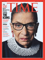 Ruth Bader Ginsberg featured on a  2015 'Time' magazine