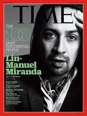 Lin-Manuel Miranda on one of the 'Time 100' covers.