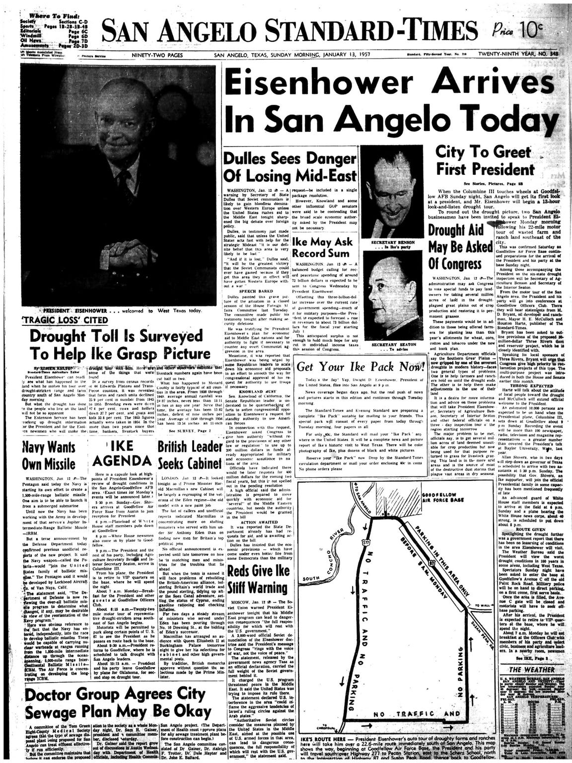 Front page January 1957.