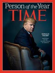 Time magazine names then-U.S. President-elect Donald