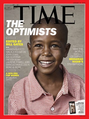 The Jan. 5 Time cover features 5-year-old Ethiopian Mohamad Nasir, whom Bill Gates met less than a month after he was born.