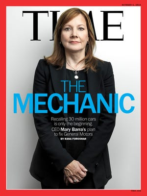 General Motors CEO Mary Barra is on the cover of the latest Time magazine.