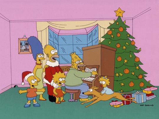 'The Simpsons' opened with a 1989 Christmas special,