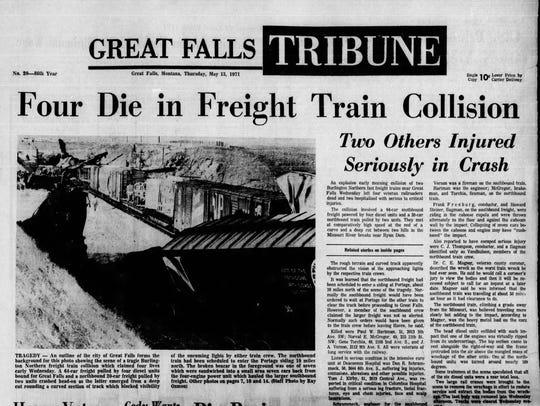 The May 13, 1971 Great Falls Tribune headline read:
