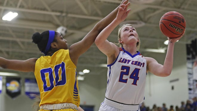 Lubbock Christian University's Maddi Chitsey-Crisler (24) is among 30 remaining candidates for the NCAA Woman of the Year award for 2020. She was the Lone Star Conference female athlete of the year as the leading scorer and rebounder on a 28-3 team and the LSC academic athlete of the year, graduating with a 3.94 grade-point average.