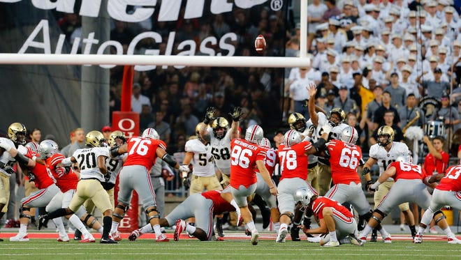 Ohio State placekicker Sean Nuernberger has made a Big Ten record 148 consecutive extra points headed into Saturday's showdown with Penn State.