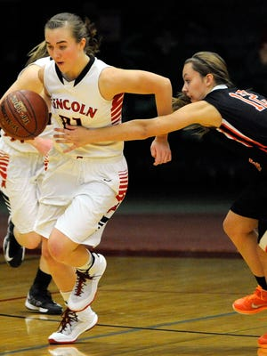 Manitowoc Lincoln's Alyssa Fischer is the 2015 HTR Media Girls Basketball Player of the Year.