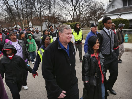 Indianapolis Mayor Greg Ballard and his wife, Winnie