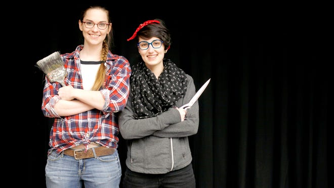 Jill Summers, left, and Carina Lopez, are Asheville Community Theatre's technical director and costume shop manager.