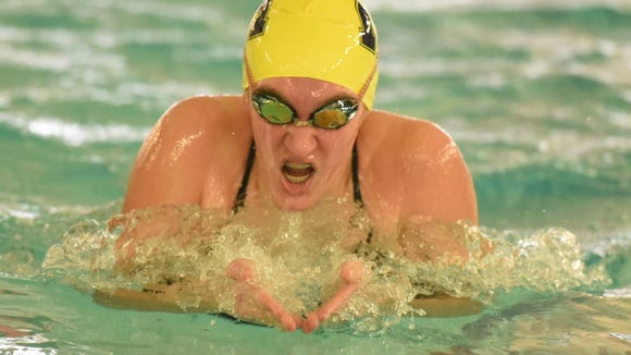 Katie Steenvorden and the Indian Hills girls swimming team entered the rankings for the first time this season.