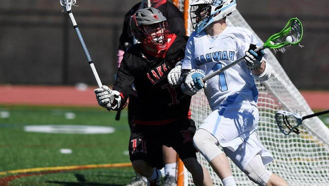 Brian DePaola (1) is a four-year varsity player and Mahwah's high scorer.