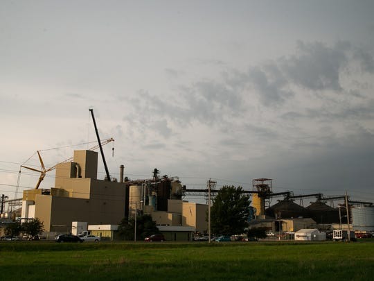 Archer Daniels Midland (ADM) is increasing its soy production and area residents are concerned this will mean more hazardous air pollutants from the plant with is already Polk County's largest air polluter. Here the plant is seen in Des Moines on Wednesday, September 23, 2015.