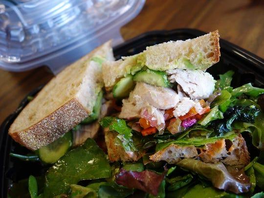 Confit tuna sandwich with albacore, house giardiniera,