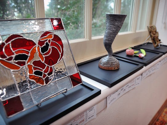 Three-dimensional art is also part of the 8-by-10-inch