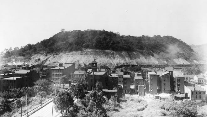 In 1929, Bald Knob in South Fairmount had not yet been carved up to fill in the land for Union Terminal.