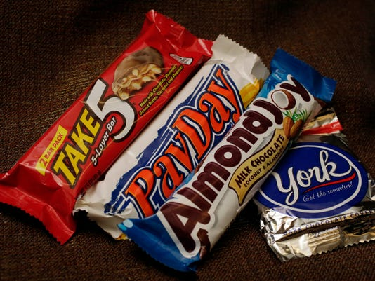 Take 5, PayDay, Almond Joy, York Peppermint Patty
