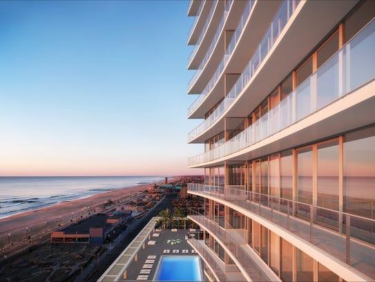 A rendering of the new Asbury Ocean Club Surfside Resort