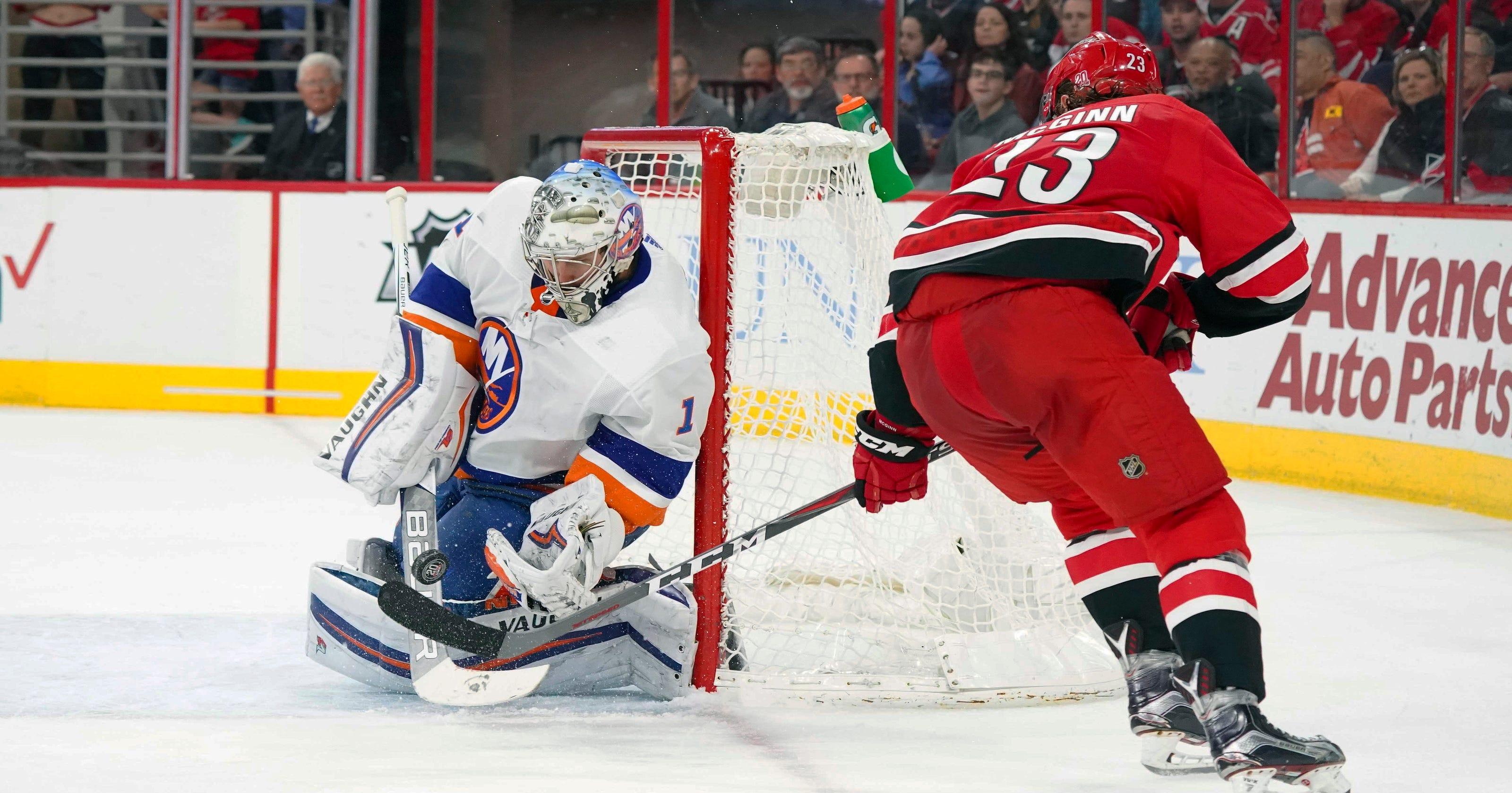 14ccd78e333 Thomas Greiss stops 45 shots, Islanders beat Hurricanes 3-0