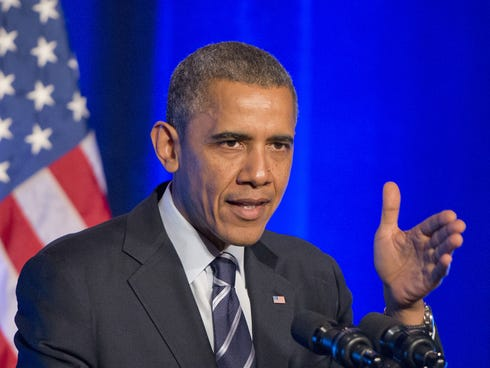 President Obama delivers remarks at an Organizing for Action