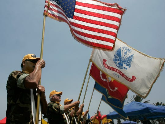The Color Guard from the Vietnam Veterans of Ventura