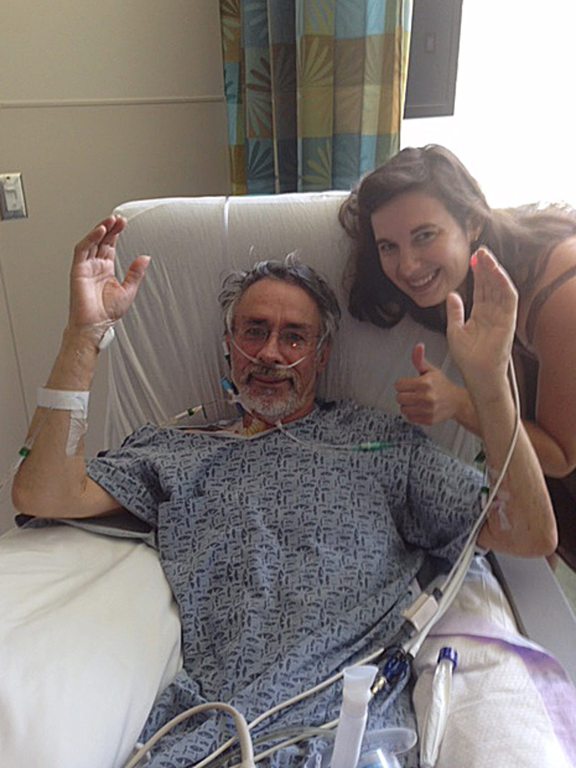 Rudy Caduff and his daughter Anna just before surgery.