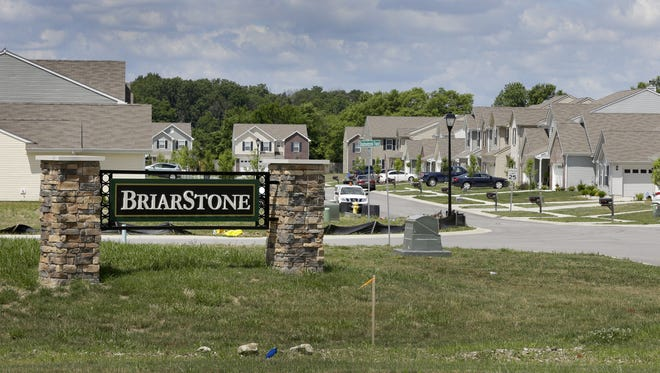 Arbor Homes and the Builders Association of Indianapolis have filed a lawsuit against a city of Greenwood land-use ordinance that they say violates state law. The builder would have to raise the prices of homes about $20,000 in the BriarStone subdivision to comply.