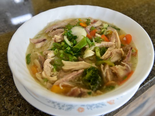 Chicken pho is one of the traditional Vietnamese dishes available at Trinity Coffee and Food in Santa Paula.