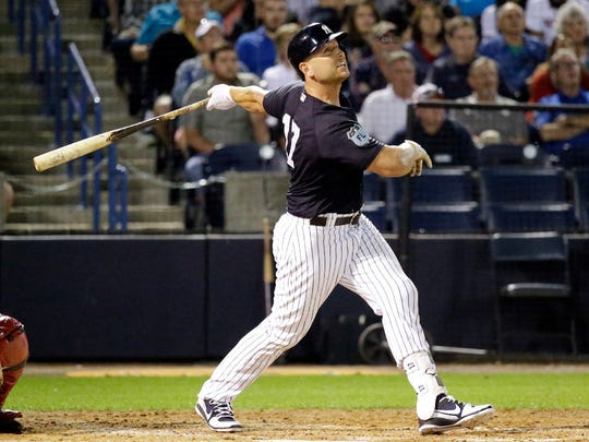 Matt Holliday begins his first season with the Yankees.