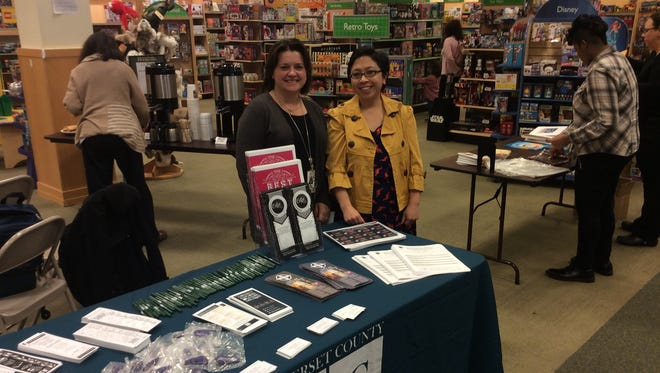 SCLSNJ librarians Linda Tripp (left) and Jessica Trujillo answered educator questions and talked about all things books at Barnes and Noble Bridgewater's Book Talk for Educators event on Tuesday, April 4.