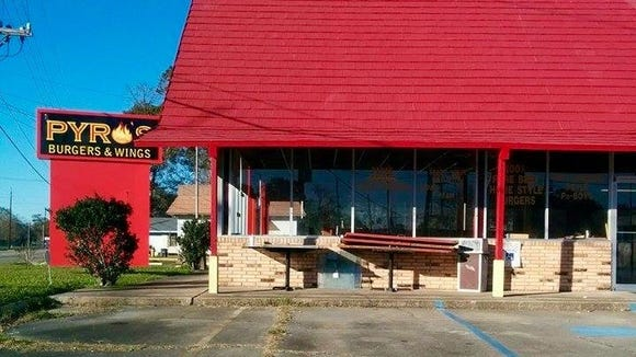 A new locally owned burger & wings joint called Pyro's Burgers & Wings is under construction at 2700 Moss Street.