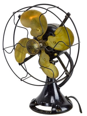 This vintage Emerson Electric Co. fan with brass blades recently sold at auction for $190.