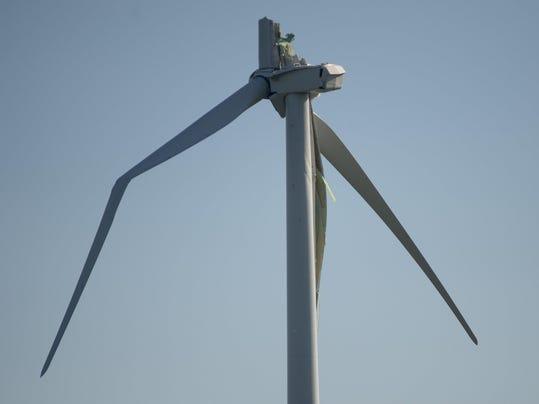 Broken Wind Turbine