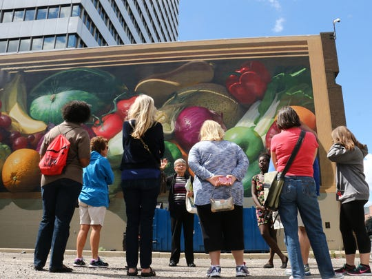 A scene from a previous ArtWorks mural tour.