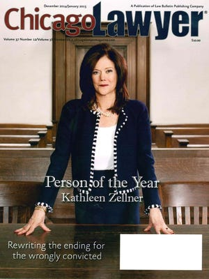 Kathleen Zellner, Steven Avery's new attorney, was Chicago Lawyer magazine's Person of the Year. She is shown on the cover of the December 2014/January 2015 edition.