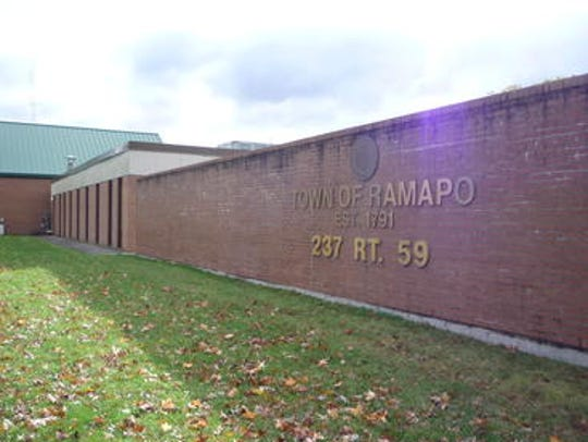 The exterior of Ramapo Town Hall is shown in this file