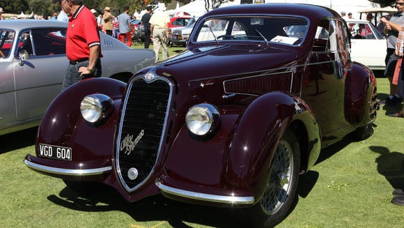 Barry Hon Of Dana Point Calif With His 1938 Alfa Romeo C2300 Coupe With Argentina License Plates It Was Restored By Chris Kidd Of Monrovia Calif